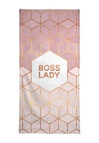 Juniqe Handtuch »Boss Lady«, (1 St.), Weiche Frottee-Veloursqualität kaufen