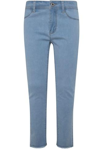 Pepe Jeans Stretch-Jeans »Madison«, mit kleinem Fransensaum kaufen