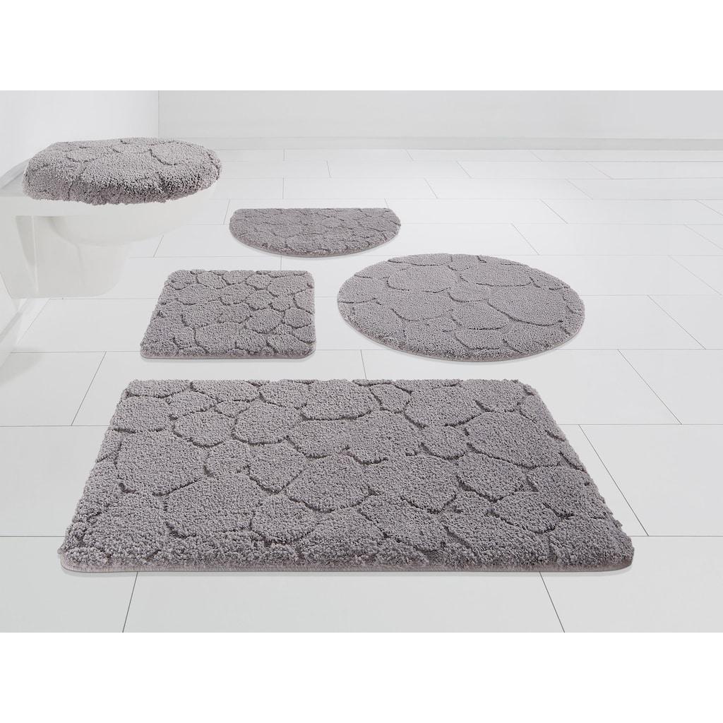 my home Badematte »Steine«, Höhe 20 mm, strapazierfähig, 3-D Optik