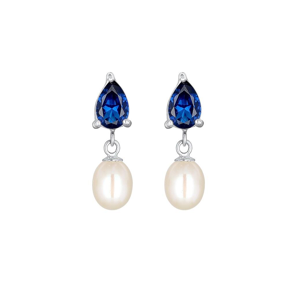 Elli Paar Ohrhänger »Süßwasserzuchtperle Tropfen 925 Silber«