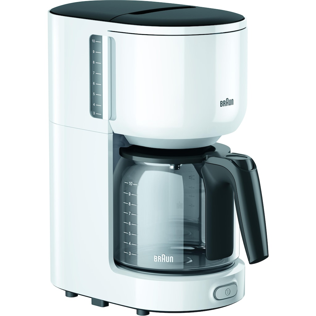 Braun Filterkaffeemaschine »KF 3120 WH«, Papierfilter, 1x4