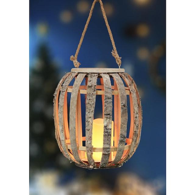 BONETTI,LED Laterne»Birken-Laterne«,