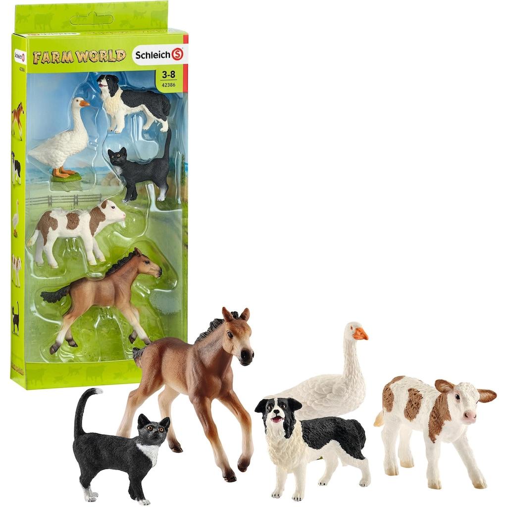 """Schleich® Spielfigur """"Farm World, Tier-Mix (42386)"""", (Set)"""