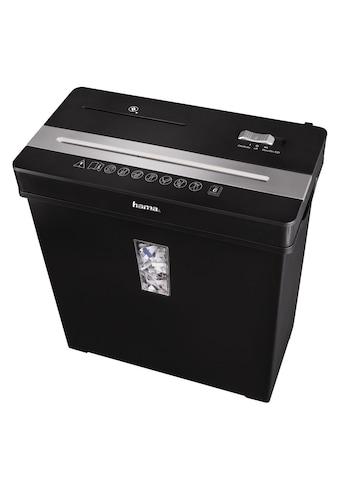 Hama Aktenvernichter Premium Cross Cut Papierschredder 8 Blatt »Reißwolf Partikelschnitt CD« kaufen