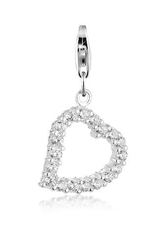 Nenalina Charm-Einhänger »Herz Anhänger-Charm Zirkonia Kristalle 925 Silber« kaufen