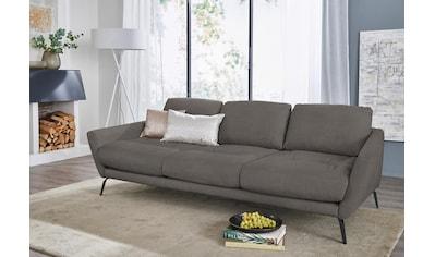 W.SCHILLIG Big-Sofa »softy«, mit dekorativer Heftung im Sitz, Füße schwarz pulverbeschichtet kaufen