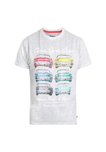 Duke Clothing T-Shirt »Herren Jenson mit Retro-Automotiv, Übergrößen« kaufen