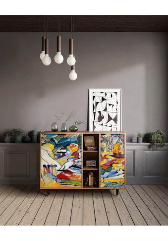 Places of Style Kommode »Improvisat«, mit dekorativen Print auf den Türen kaufen