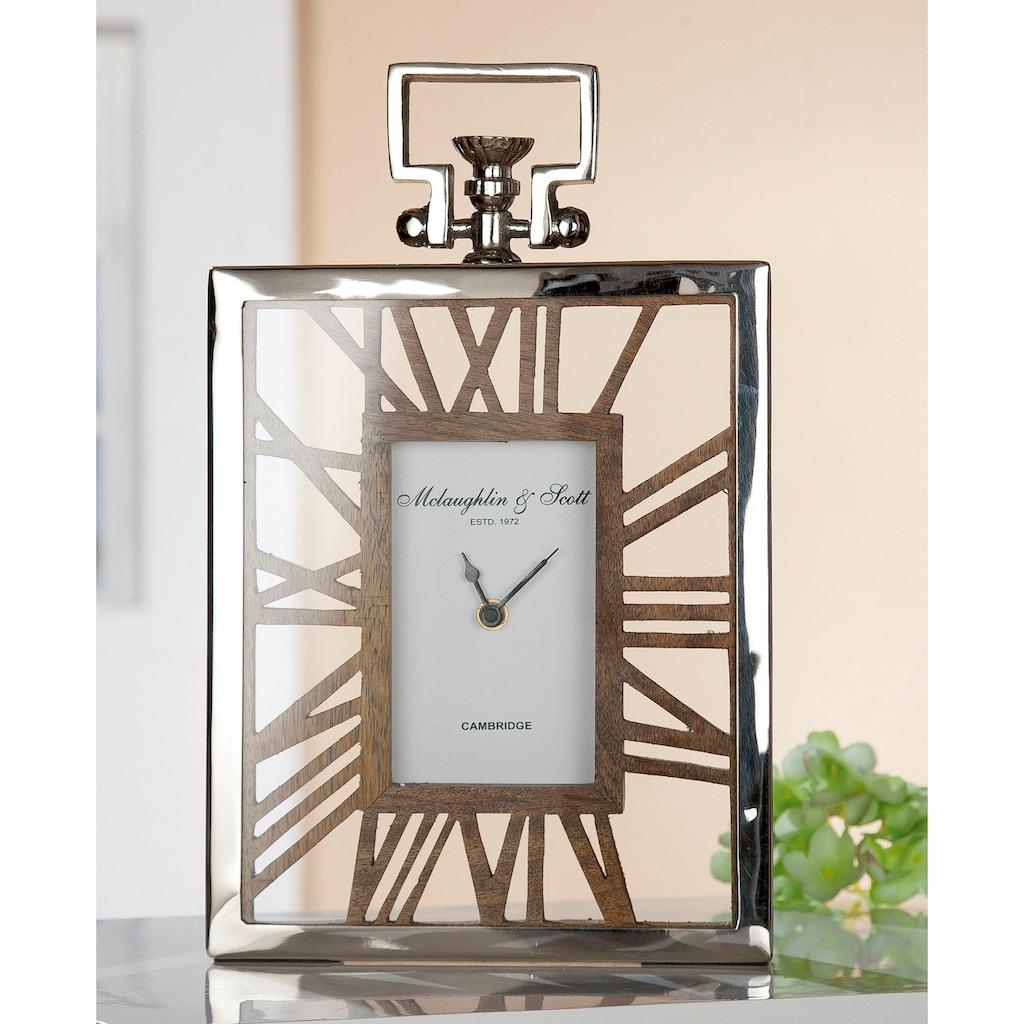 GILDE Standuhr »Uhr Rusto«, Höhe 34 cm, eckig, römische Ziffern, Wohnzimmer