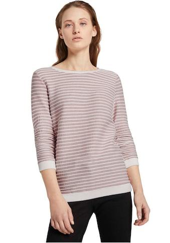 TOM TAILOR Denim Sweatshirt, mit strukturiertem Streifen kaufen