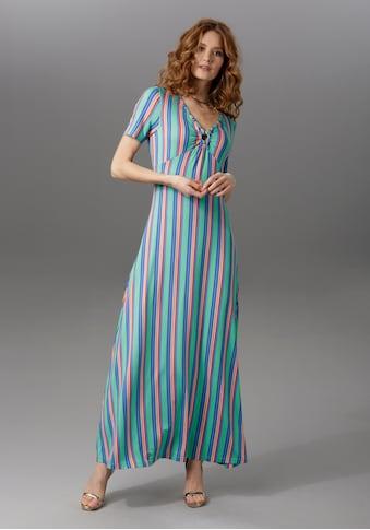 Aniston CASUAL Sommerkleid, mit raffiniertem Dekolleté kaufen