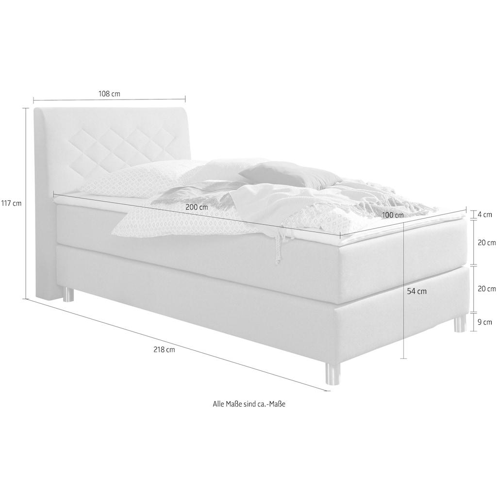 INOSIGN Boxspringbett »Parla«, incl. Topper, 4 Farben in 4 Breiten, 2 Härtegraden, 3 Matratzenarten
