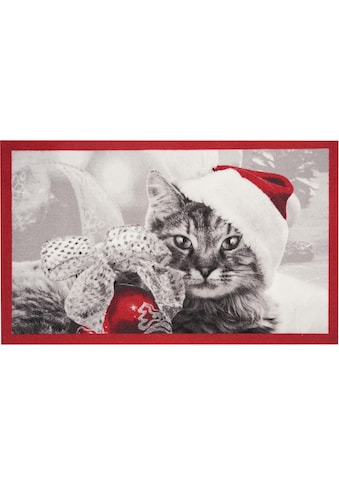 HANSE Home Fußmatte »Christmas Cat«, rechteckig, 7 mm Höhe, Fussabstreifer,... kaufen