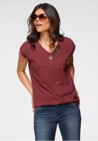 Boysen's V-Shirt, mit großen Knöpfen kaufen