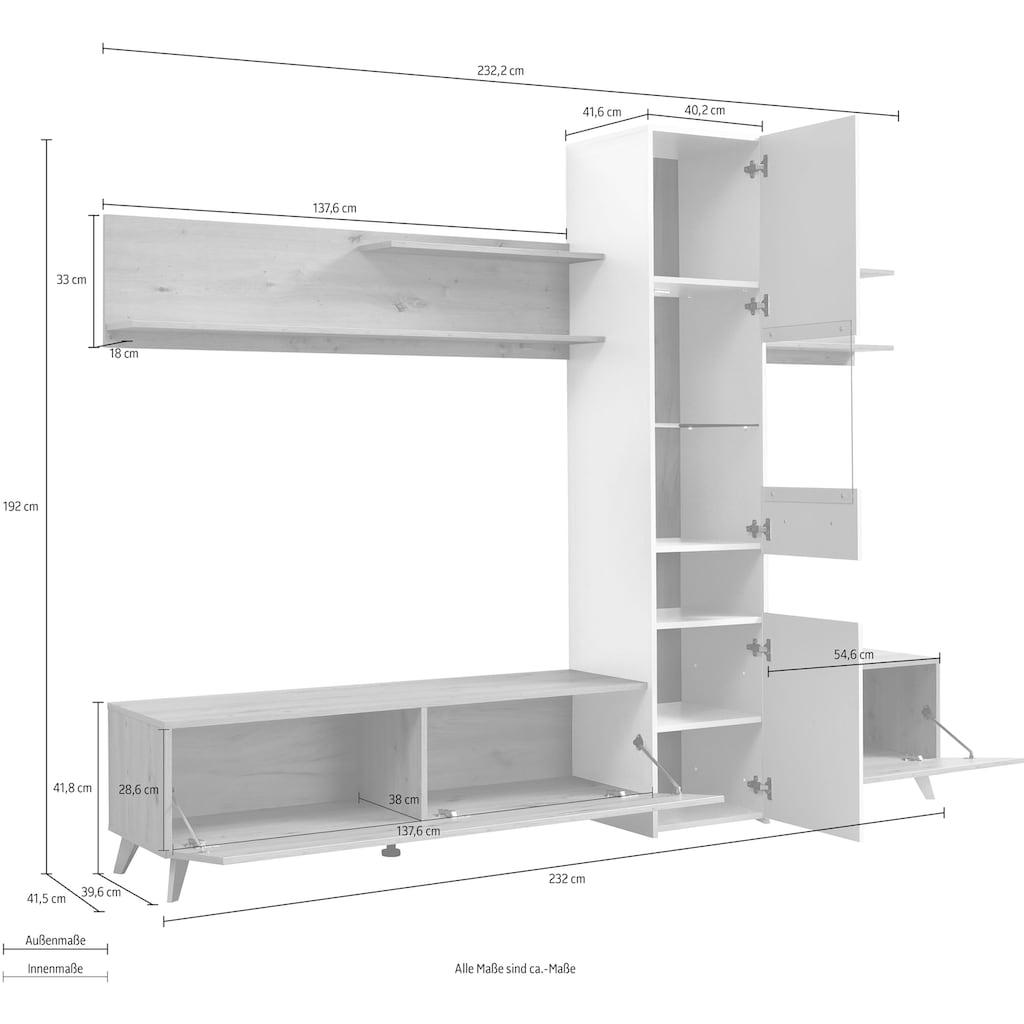 Wohnwand »Linares«, (Set, 3 St.)