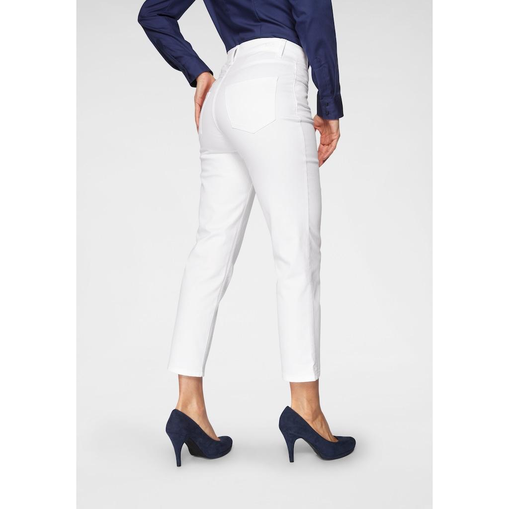 MAC Gerade Jeans »Melanie Glam«, Besonderer Glitzer-Nieten Besatz