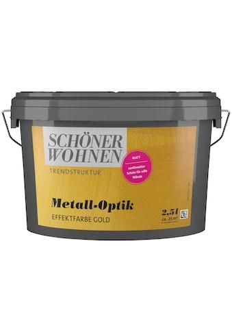 SCHÖNER WOHNEN-Kollektion Wandfarbe »Metall-Optik Effektfarbe gold«, 2,5 l kaufen