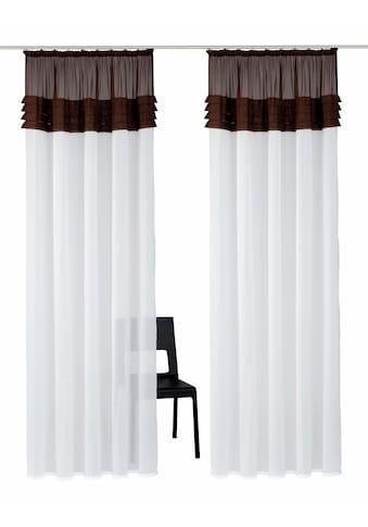 Home affaire Gardine »Gander«, Vorhang, Fertiggardine, halbtransparent kaufen