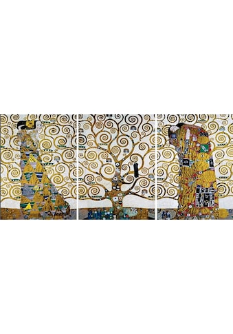 Home affaire Wandbild »KLIMT - Der Lebensbaum«, (Set), 3-tlg. Set kaufen