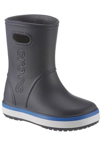Crocs Gummistiefel »Crocband Rain Boot Kids«, mit reflektierendem Logo kaufen