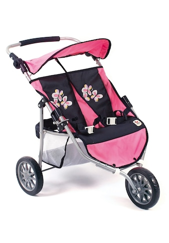 CHIC2000 Puppen-Zwillingsbuggy »Jogger, pink checker« kaufen