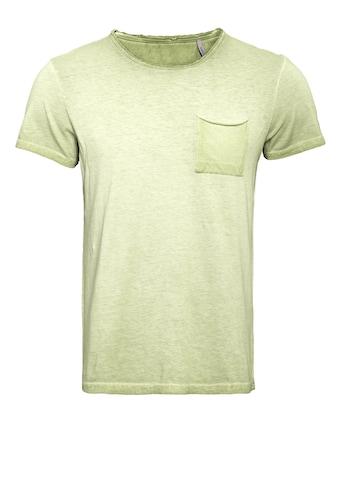 Way of Glory T-Shirt, Round neck im used Look mit Brusttasche kaufen