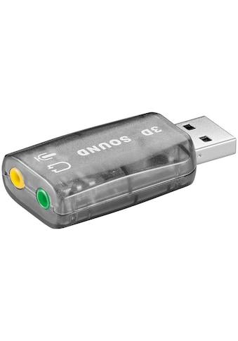 Goobay USB 2.0 Soundkarte / Audio/Headset Adapter kaufen