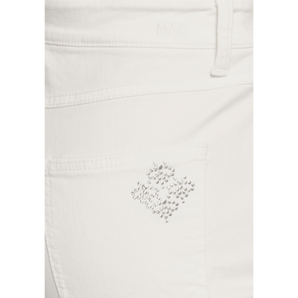 MAC Stretch-Jeans »Melanie Bees«, Kleine Bienen-Verzierungen an der hinteren Tasche