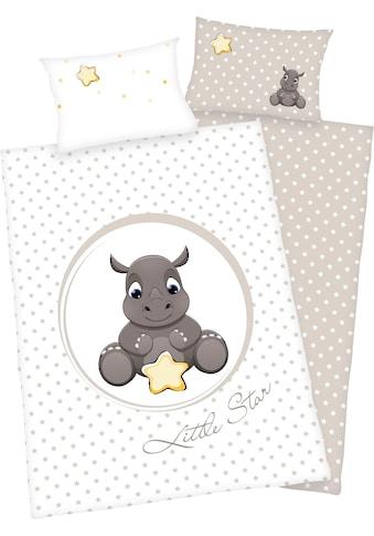 Baby Best Babybettwäsche »Süßes Nashorn«, mit niedlichem Motiv kaufen