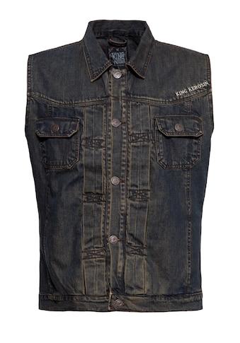 KingKerosin Jeansweste »Motor State«, mit Stickerei und Waschung kaufen