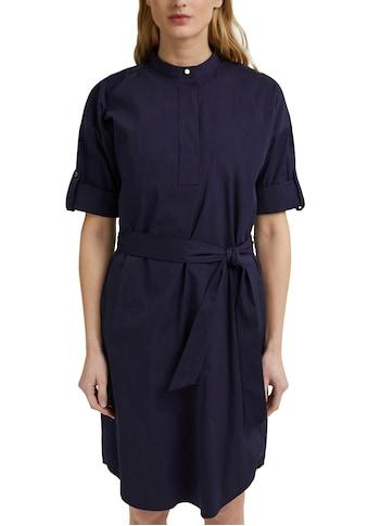 Esprit Collection Hemdblusenkleid, mit verdeckter Knopfleiste und Gürtel zum Binden kaufen