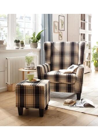 Home affaire Sessel »Chilly« (Set, 2 - tlg., bestehend aus Sessel und Hocker) kaufen