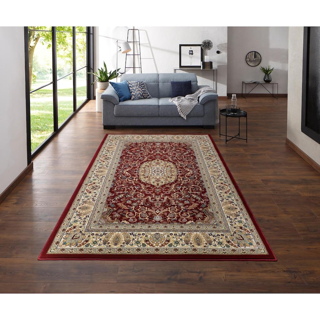 my home Teppich »Nevio«, rechteckig, 8 mm Höhe, Orient-Optik, mit Bordüre, Wohnzimmer