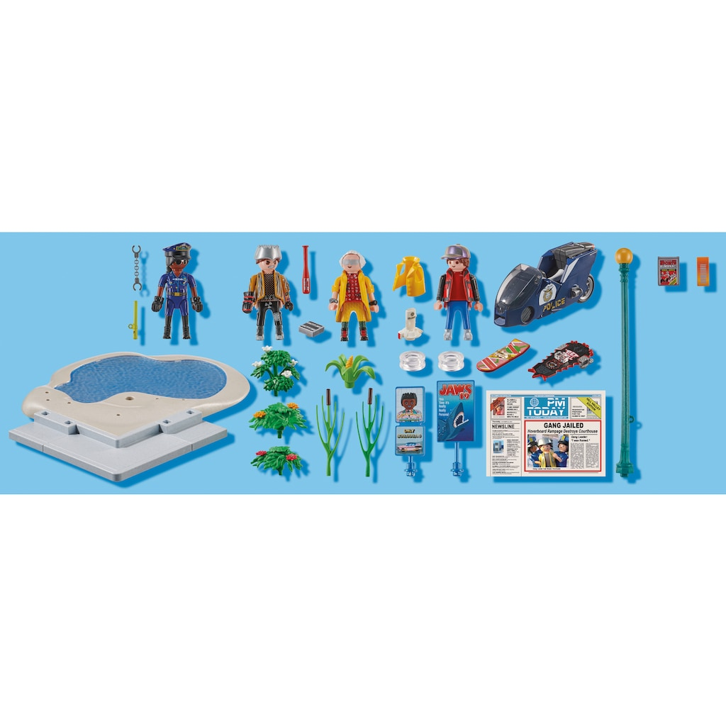 Playmobil® Konstruktions-Spielset »Back to the Future Part II Verfolgung mit Hoverboard (70634), Back to the Future«, (80 St.), Made in Germany