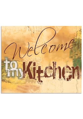Artland Küchenrückwand »Willkommen in meiner Küche« kaufen