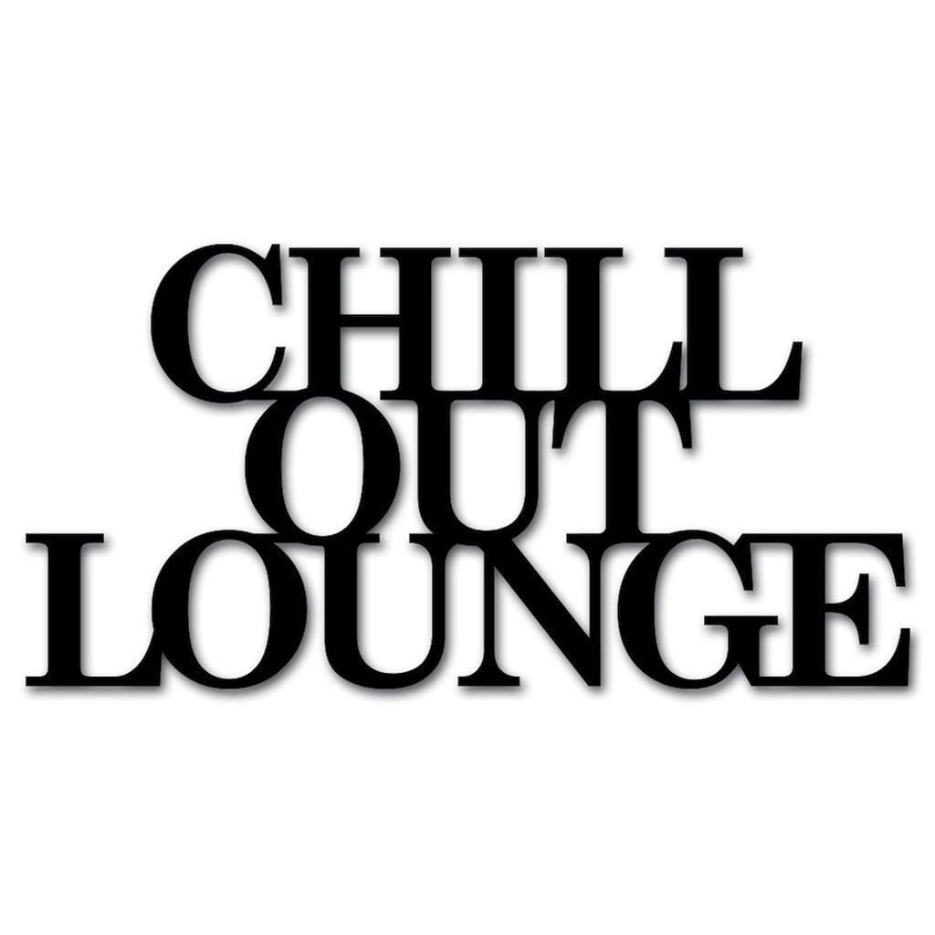 """Home affaire Wandbild »Schriftzug """"Chill out Lounge""""«, Schriftzug, Maße (B/H): 60/30 cm"""