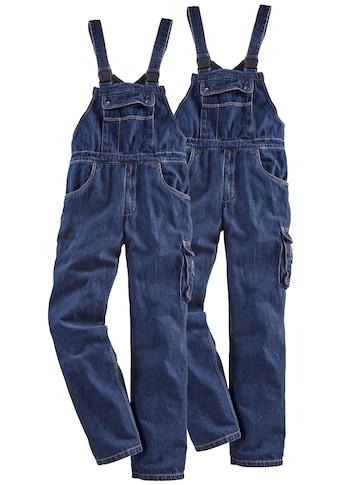 Latzhose »Worker Jeans 2er Set«, (2 tlg.), mit dehnbarem Bund kaufen