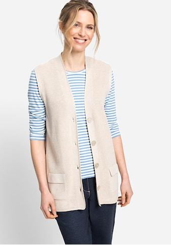 Olsen Strickweste, mit Knopfleiste kaufen