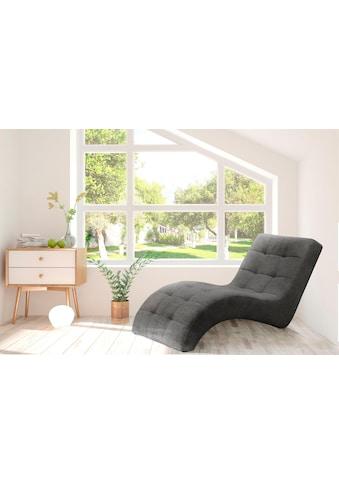 my home Relaxliege »Lagune«, mit Steppung im Liegebereich, Breite 77 cm kaufen