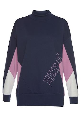 Bench. Sweatshirt, mit Stehkragen und Kontrastdetails kaufen