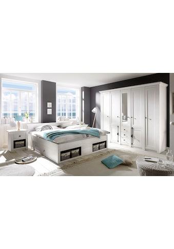 Home affaire Schlafzimmer - Set »California«, 4 - teilig: Bett 180 cm, 2 Nachttische, 5 - trg. Kleiderschrank kaufen