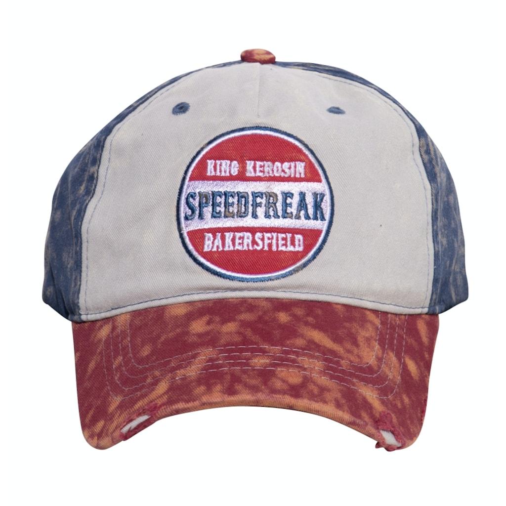 KingKerosin Baseball Cap »Speedfreak«, mit Destroyed-Effekten und Enzymwash