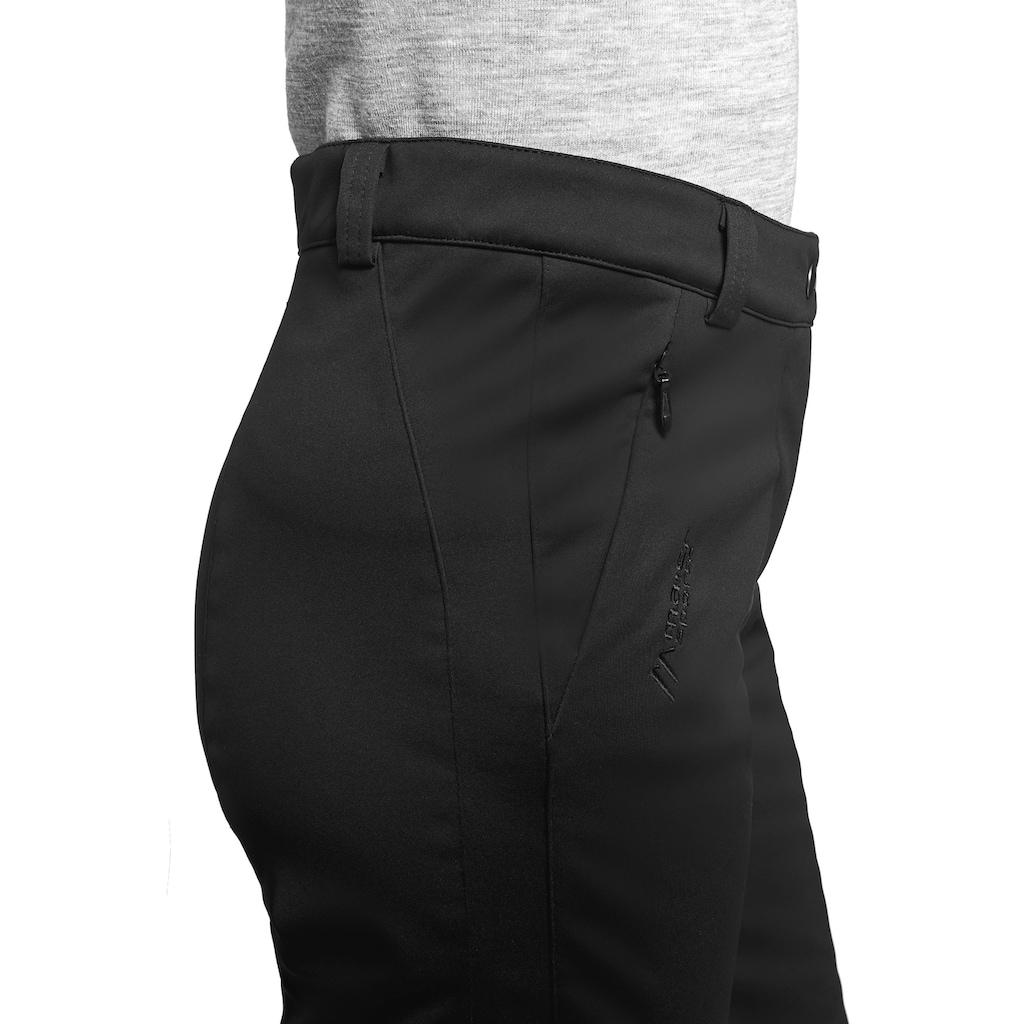 Maier Sports Softshellhose »Lapilli W«, Warme, elastische Softshellhose mit kuscheliger Fleece-Innenseite