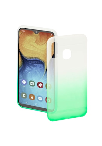 Hama Soft Cover Case Handyhülle für Samsung Galaxy A20e »Schutzhülle , Transparent/Grün« kaufen