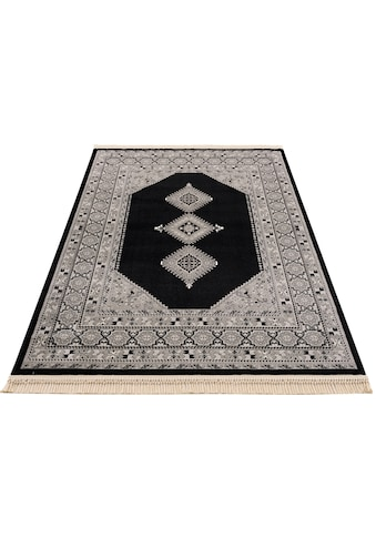 DELAVITA Teppich »Amaya«, rechteckig, 10 mm Höhe, Mt Fransen, Wohnzimmer kaufen