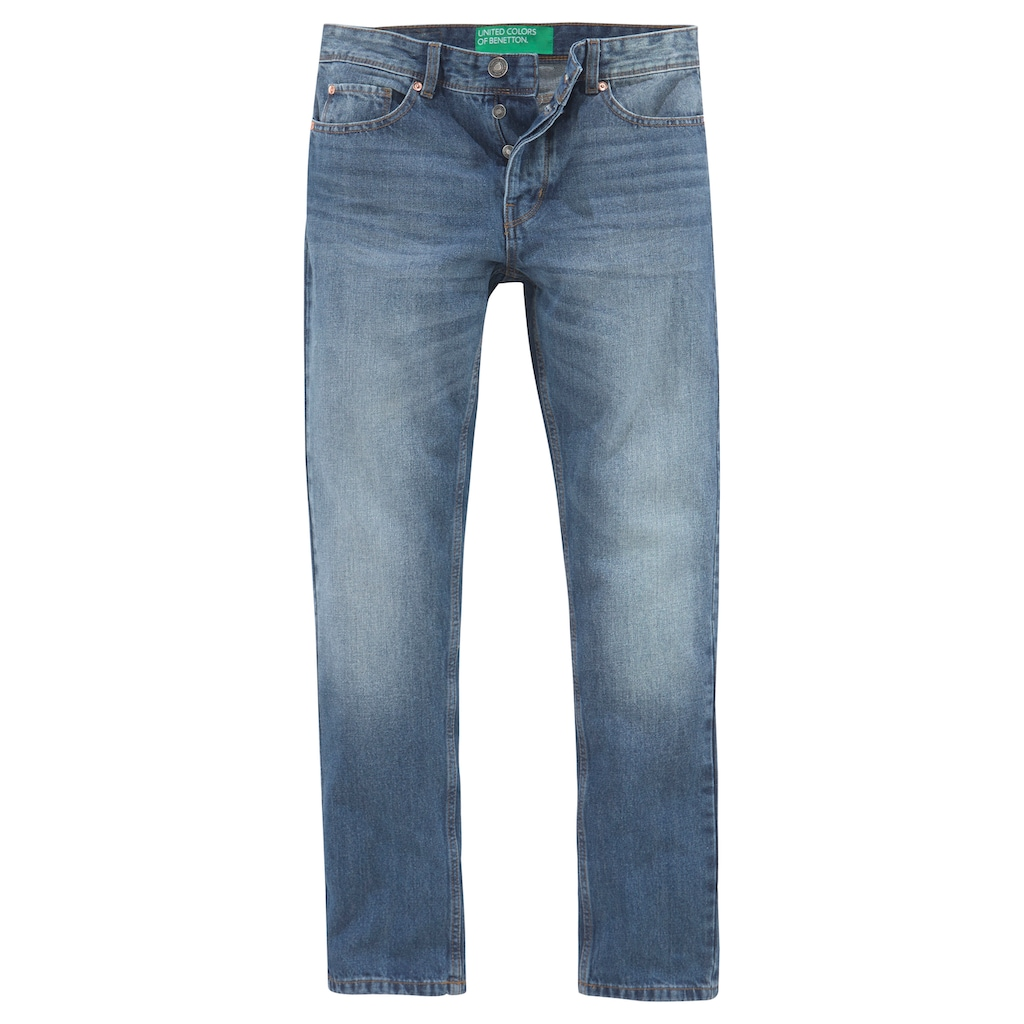 United Colors of Benetton 5-Pocket-Jeans, mit Knopfleiste