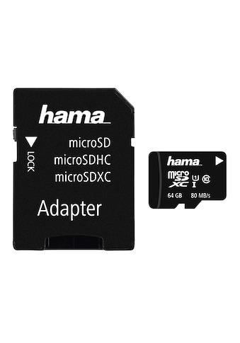 Hama microSDHC 64 GB Class 10 UHS-I 80MB/s + Adapter/Mobile kaufen