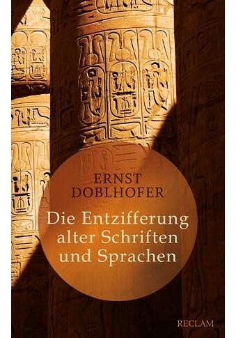 Buch »Die Entzifferung alter Schriften und Sprachen / Ernst Doblhofer« kaufen