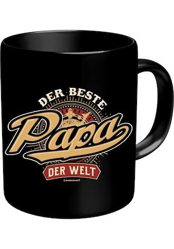 Rahmenlos Kaffeebecher mit lustigem Aufdruck »Der beste Papa der Welt« kaufen