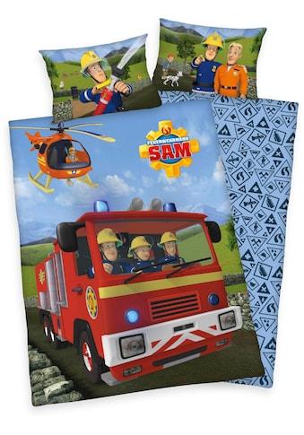Feuerwehrmann Sam Babybettwäsche »Feuerwehrmann Sam«, mit Löschzug und Helikopter kaufen
